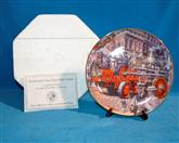 FRANKLIN MINT Collectible Plate CHRISTIE DRAWN AMOSKEAG PUMPER
